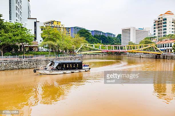 Bootsfahrt auf dem Singapur Fluss und mit der Regenbogen Alkaff Brücke