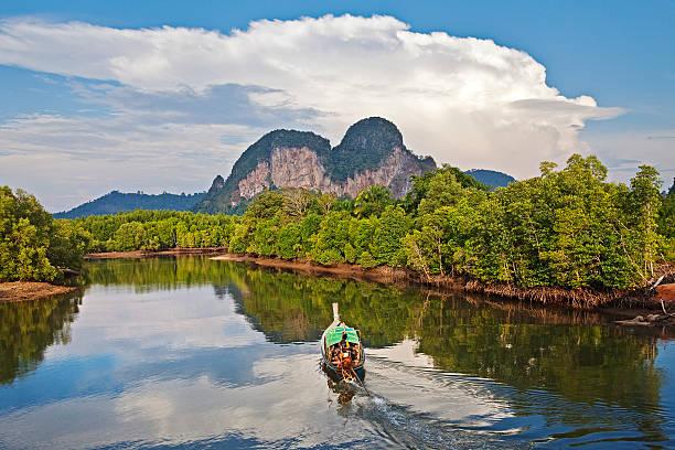 Boat on Son River, Aonang, Krabi.