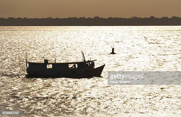 Boat on the river in Amazon,Brazil