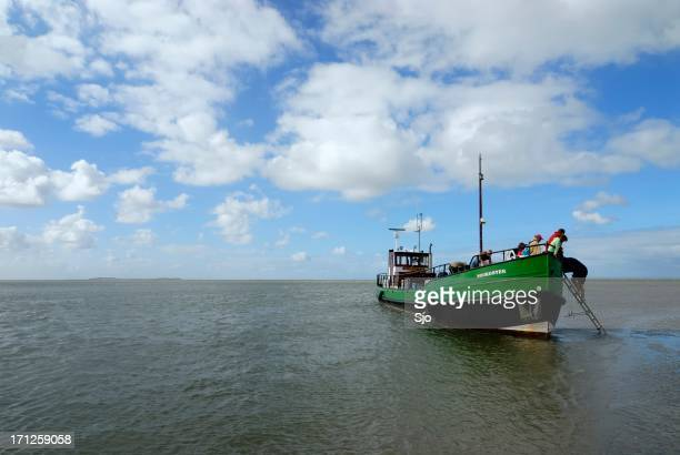"barco no waddensea - ""sjoerd van der wal"" or ""sjo"" - fotografias e filmes do acervo"
