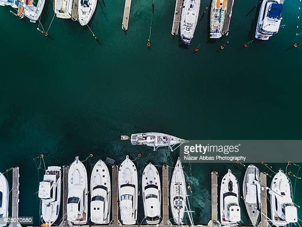 Boat Parking at Gulf Harbour Marina, Auckland New Zealand.
