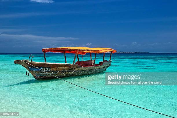 boat - zanzibar island stock photos and pictures