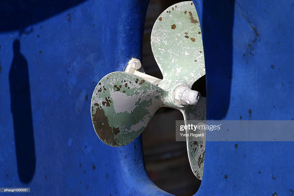Boat propeller, close-up : Stock Photo