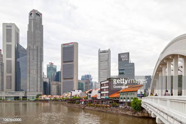 boat quay en singapur - gwengoat fotografías e imágenes de stock