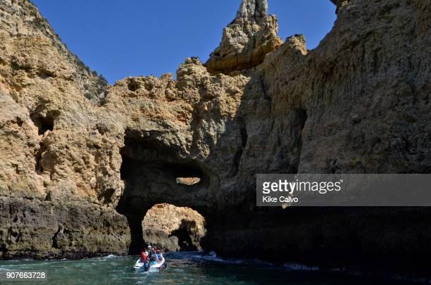 Boat ride exploring the Algarve coast Ponta da Piedade Algarve Lagos Portugal
