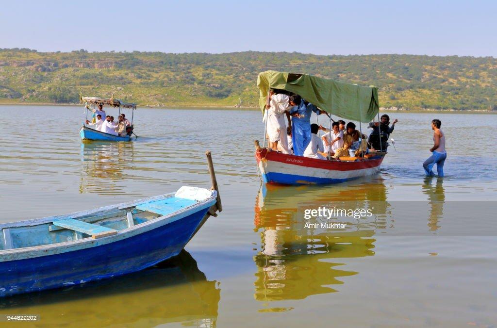 Boat ride in the lake : Stock Photo