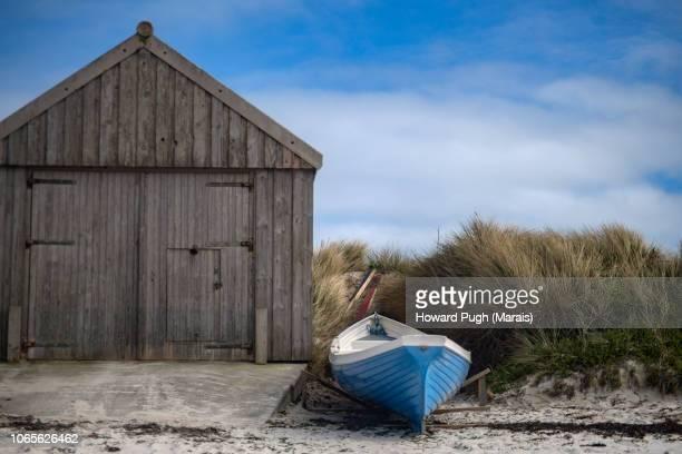 Boat, Shed, Coastal Landscape