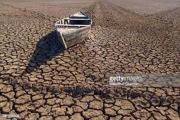Boat stranded in the desert