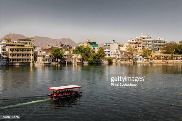 Boat Transportation in Lake Pichola, Udaipur, India