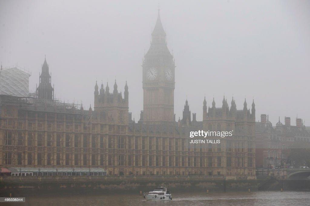 BRITAIN-WEATHER-FOG : News Photo