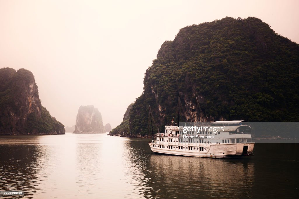Boat Trip across Famous Halong Bay : ストックフォト