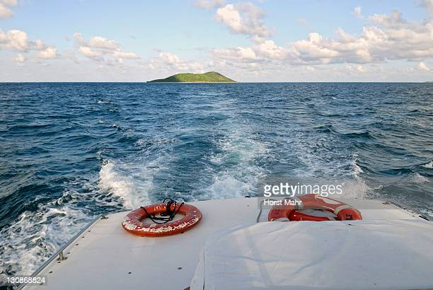 Boat trip from Buck Island to St. Croix Island, US Virgin Islands, USA