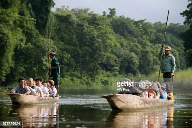 Boat trip on the Rapti River, Chitwan National Park, Nepal, Asia.