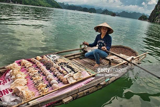 CONTENT] Boat vendor in Halong Bay Vietnam