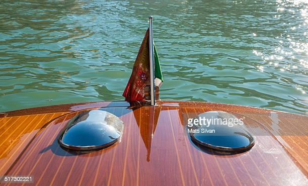 Boat with an Italian flag