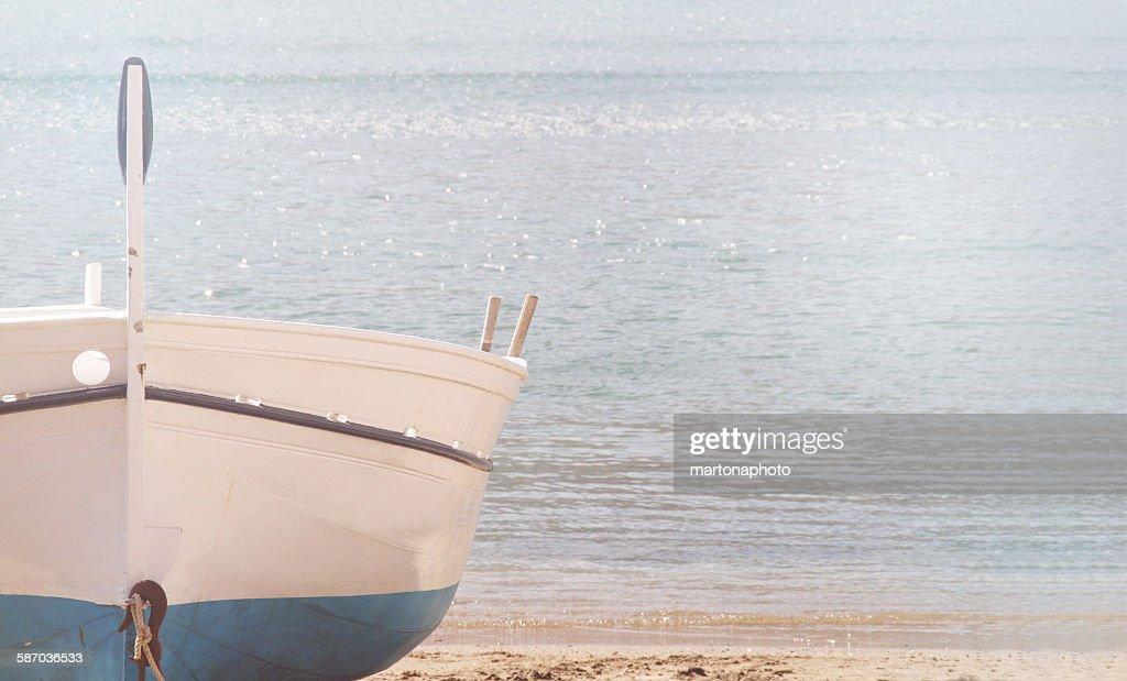 Boat with sea background : Foto de stock