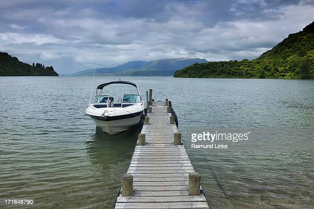 Boat with Wooden Jetty