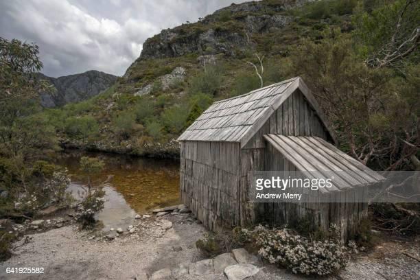 Boathouse at Crater Lake, Tasmania