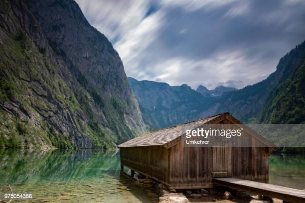 Bootshaus auf dem Obersee in der Nähe der Info