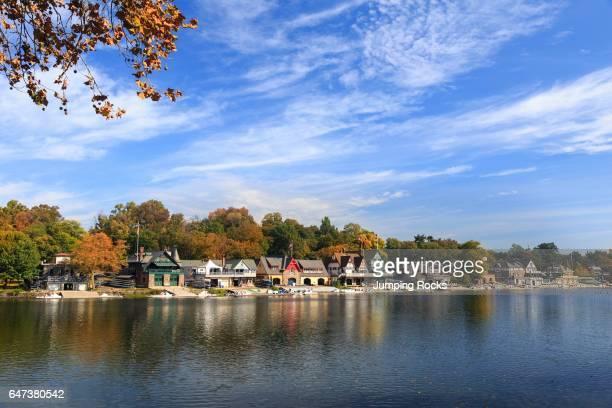 Boathouse Row on the Schuylkill River Philadelphia Pennsylvania