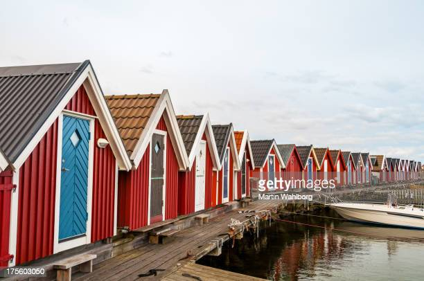 Boathouses on a jetty
