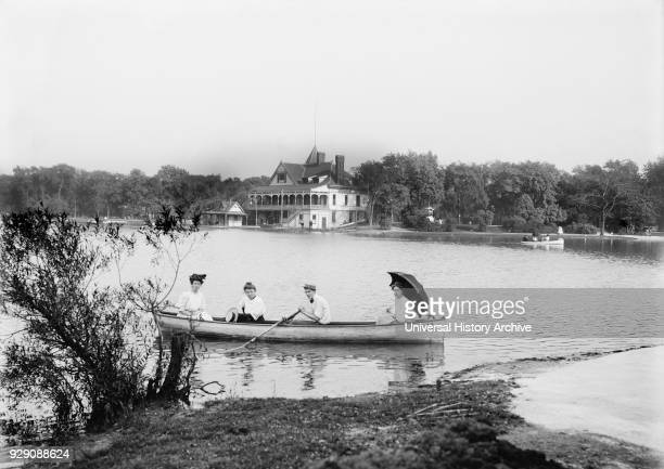 Boating Garfield Park Chicago Illinois USA Detroit Publishing Company 1907