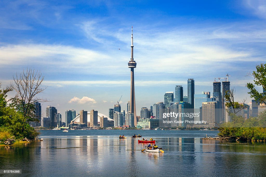 Boating in Lake Ontario, Toronto, Canada : Stock Photo