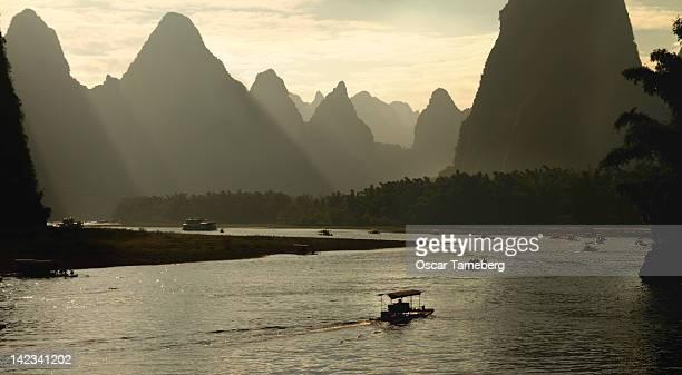 Boating on Li River, Guilin