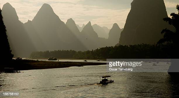 Boating on Li river