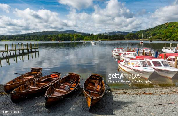 boating on windermere, the lake district - cumbria stock pictures, royalty-free photos & images