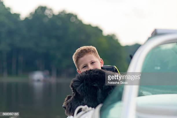 Boating with the dog