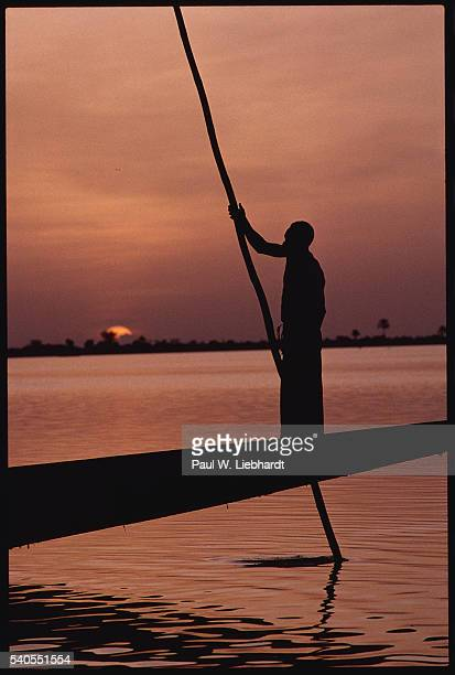 Boatman on the Niger River