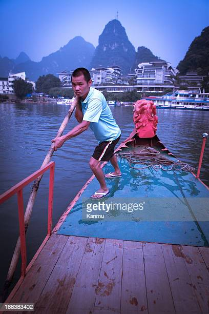 Boatmen on the Lijiang River