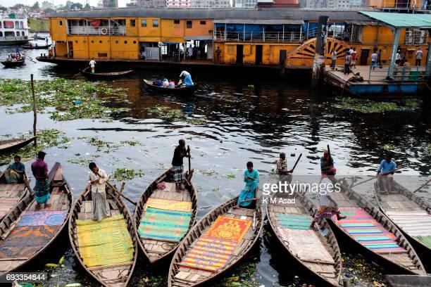 SADARGHAT DHAKA BANGLADESH Boatmen waiting for passengers beside the Burigonga River on the day before of World Environment Day A large swathe of the...