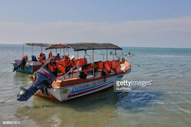 Boats along Casuarina Beach in Karainagar Sri Lanka Casuarina Beach is located on the Northern tip of the Karainagar Island off the mainland Jaffna...