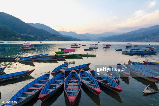 Boats and Fewa Lake