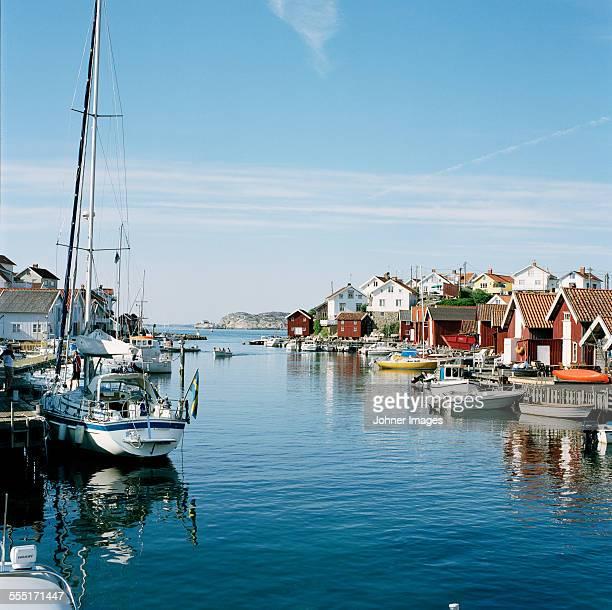 Boats and houses at sea