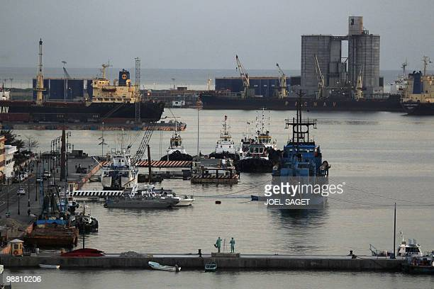 Boats are seen at the Veracruz harbour on May 1 2010 AFP PHOTO / JOEL SAGET