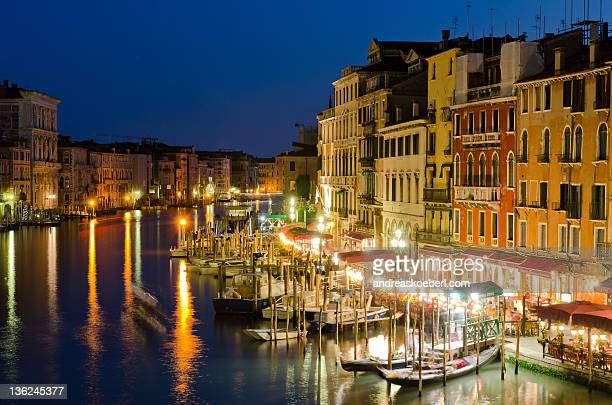 Boats at grand Canal in Venice