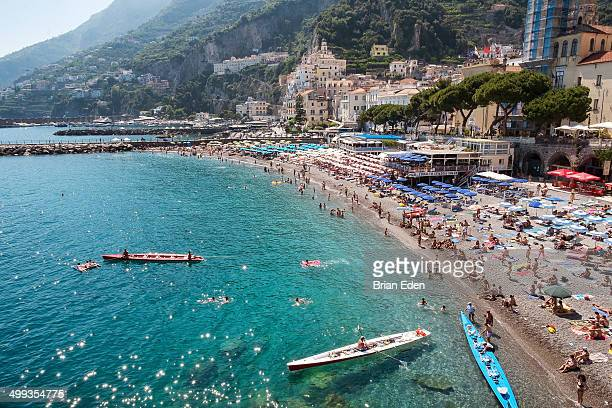 Boats at the beach in Amalfi