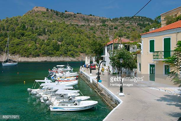 Boats at the quayside Assos Kefalonia Greece