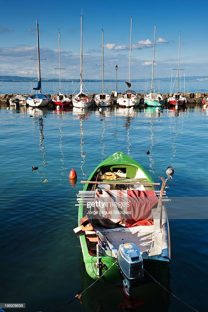 Boats at Yvoire port : Foto de stock