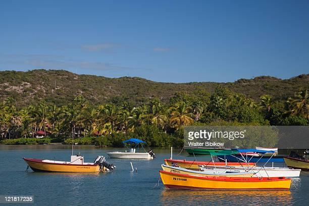 boats, bahia de la ballena , guanica, puerto rico, december 2009 - paisajes de puerto rico fotografías e imágenes de stock
