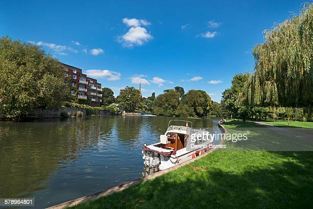 Boats beside River Avon,