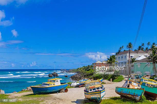 Boats by the water at Tent Bay, Barbados