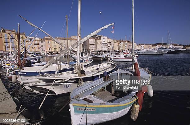 Boats, close-up, St. Tropez Harbor, French Riviera, Cote d' Azur, France