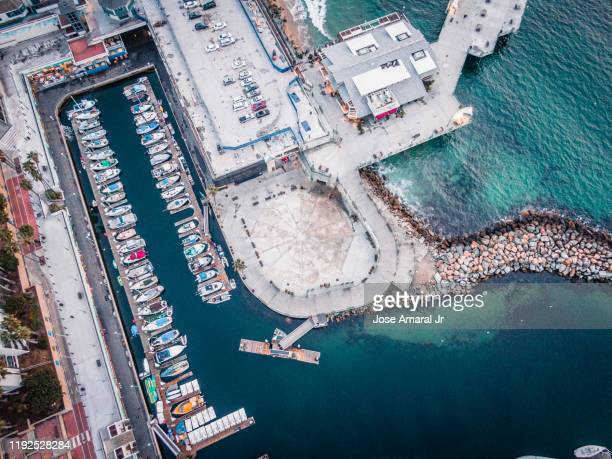 boats dock at the pier - redondo beach california stock pictures, royalty-free photos & images