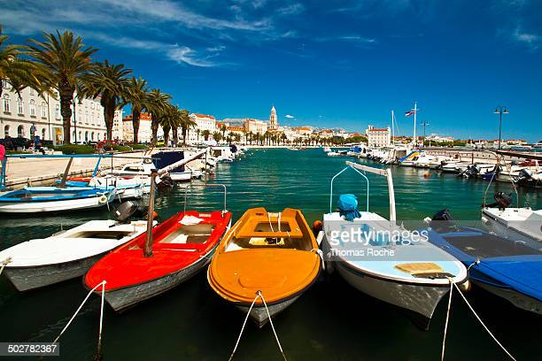 Boats docked at Split
