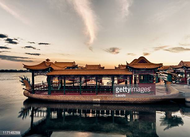 Boats from the past. Summer Palace Beijing