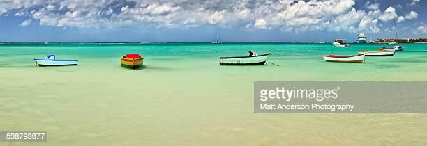 Boats in a row, Aruba